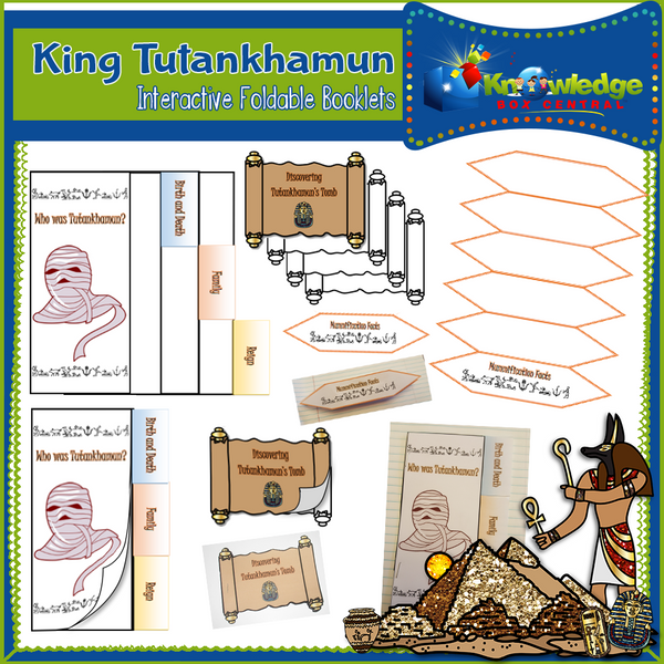 King Tutankhamun Interactive Foldable Booklets