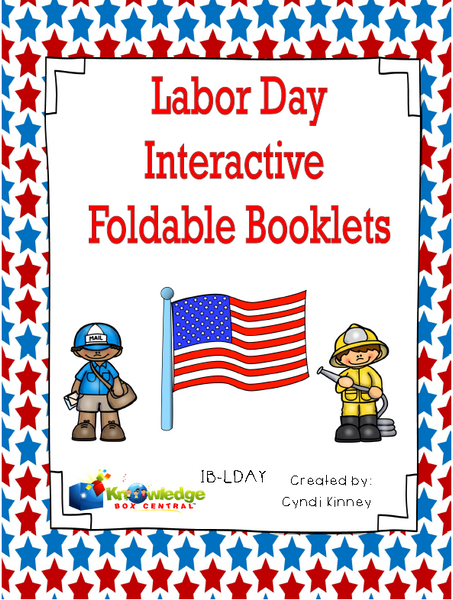 Labor Day Interactive Foldable Booklets