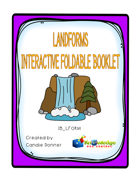 Landforms Interactive Interactive Foldable Booklets