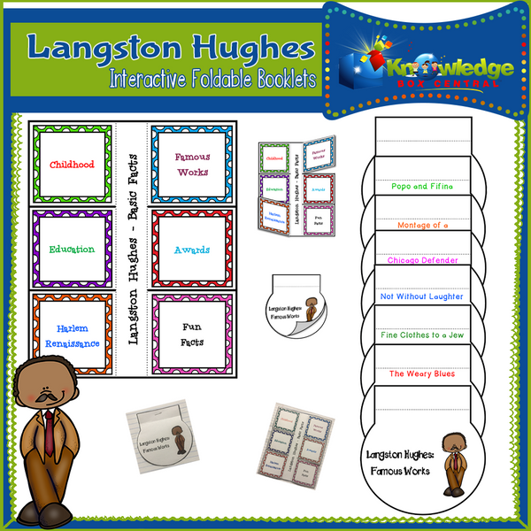 Langston Hughes Interactive Foldable Booklets