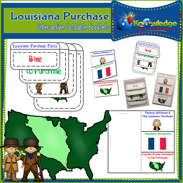 Louisiana Purchase Interactive Foldable Booklets