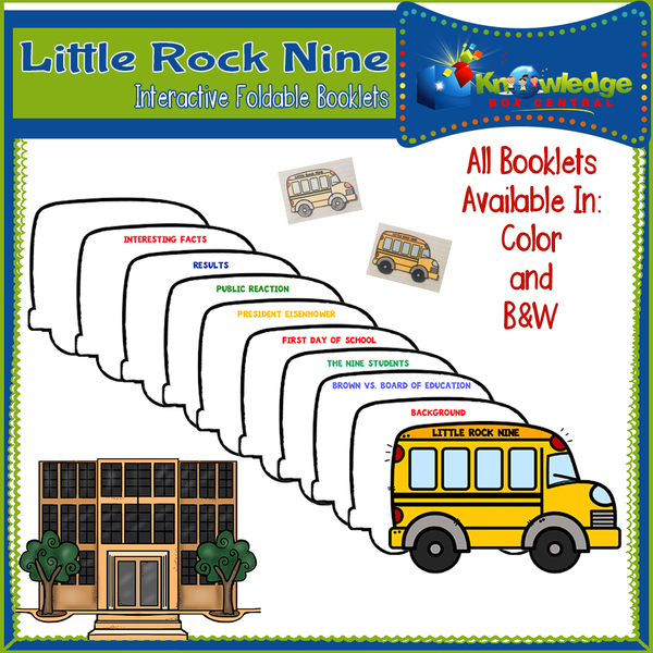 Little Rock Nine Interactive Foldable Booklets