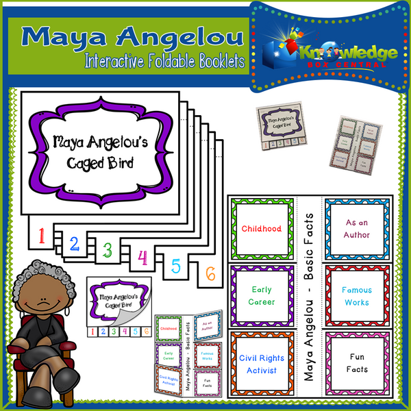 Maya Angelou Interactive Foldable Booklets