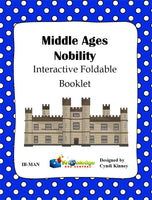 Middle Ages Nobility Interactive Foldable Booklets