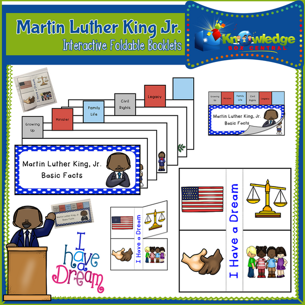 Martin Luther King Jr. Interactive Foldable Booklets