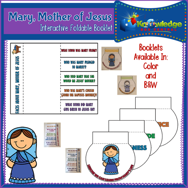 Mary, Mother of Jesus Interactive Foldable Booklets