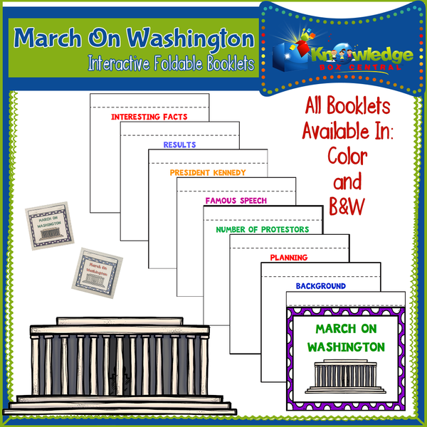 March on Washington Interactive Foldable Booklets