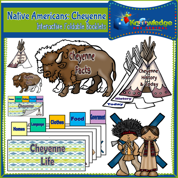 Native Americans: Cheyenne Interactive Foldable Booklets