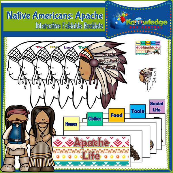 Native Americans: Apache Interactive Foldable Booklets