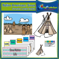 Native Americans: Sioux Interactive Foldable Booklets