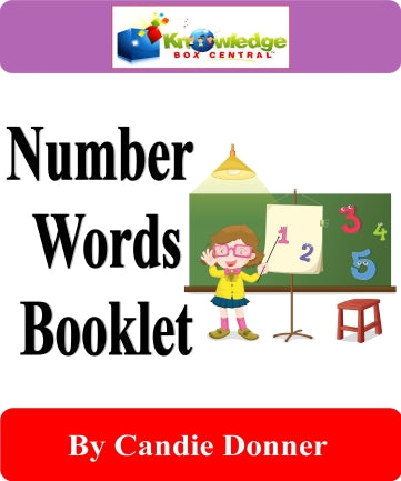 Number Words Interactive Foldable Booklets