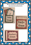 Oceans of the World Interactive Foldable Booklets