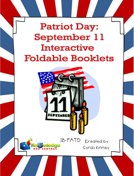 Patriot Day:September 11 Interactive Foldable Booklets