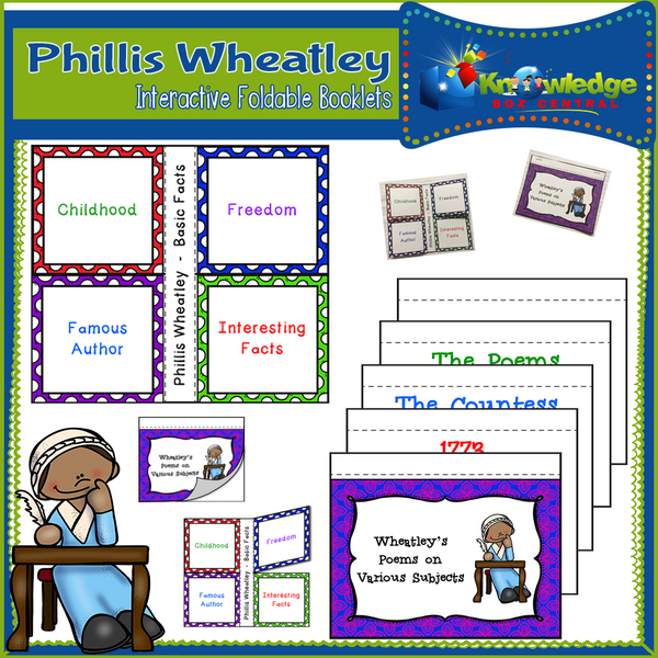 Phillis Wheatley Interactive Foldable Booklets