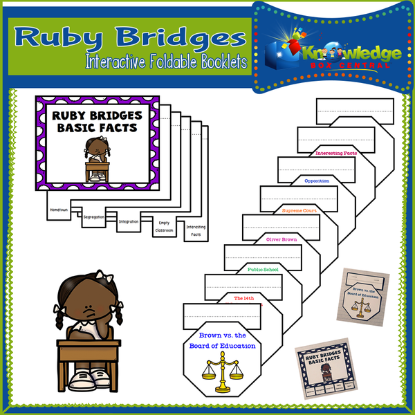 Ruby Bridges Interactive Foldable Booklets