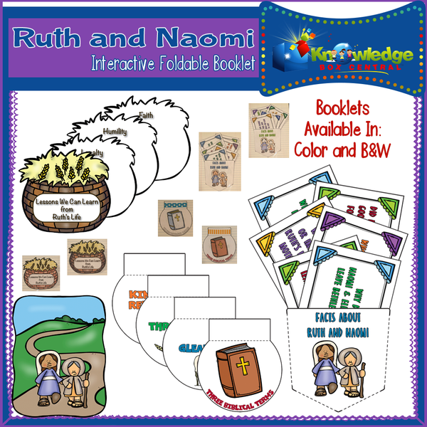 Ruth and Naomi Interactive Foldable Booklets