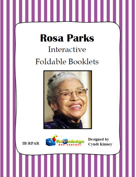 Rosa Parks Interactive Foldable Booklets