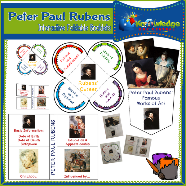Peter Paul Rubens Interactive Foldable Booklets
