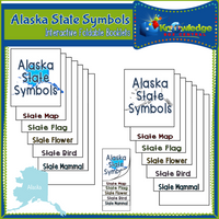 Alaska State Symbols Interactive Foldable Booklets