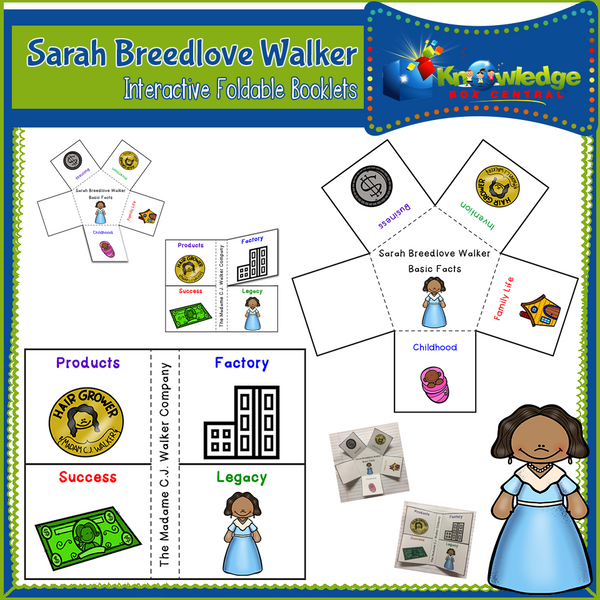 Sarah Breedlove Walker Interactive Foldable Booklets