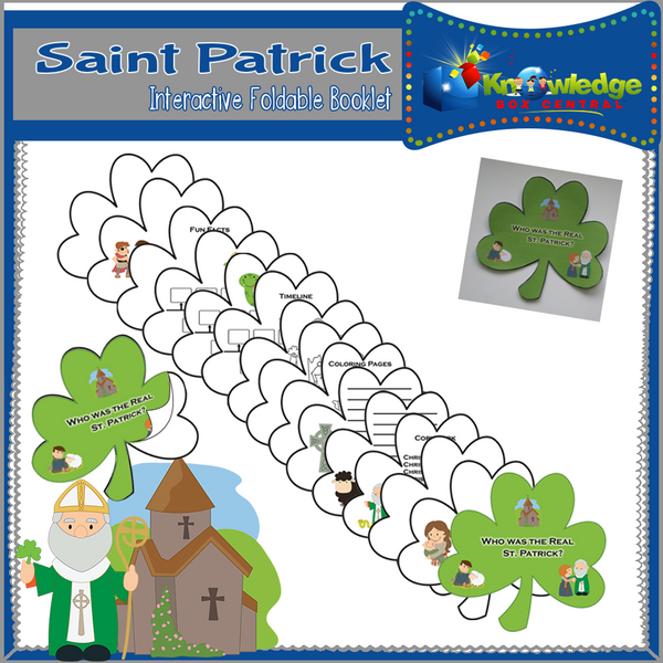 Saint Patrick Interactive Foldable Booklets