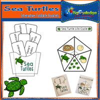 Sea Turtles Interactive Foldable Booklets