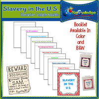 Slavery in the United States Interactive Foldable Booklets