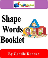 Shape Words Interactive Foldable Booklets