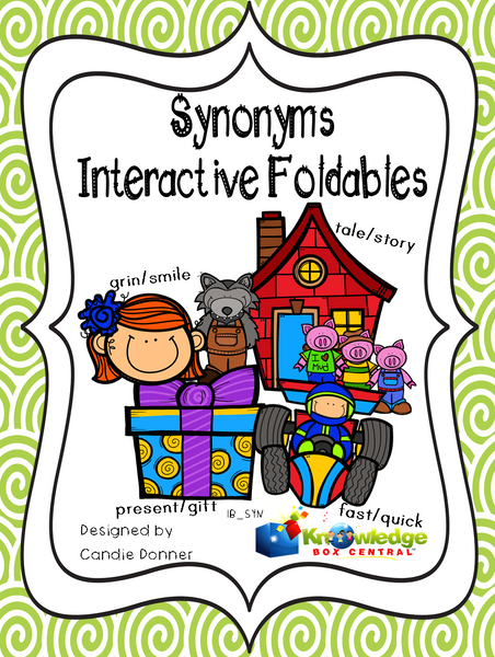 Synonyms Interactive Foldable Booklets