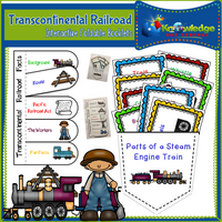 Transcontinental Railroad Interactive Foldable Booklets