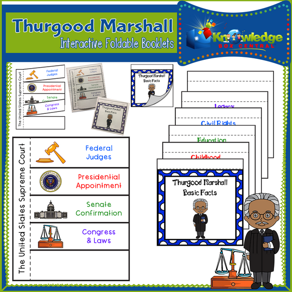 Thurgood Marshall Interactive Foldable Booklets