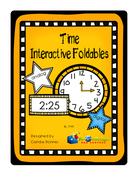 Time Interactive Foldable Booklets