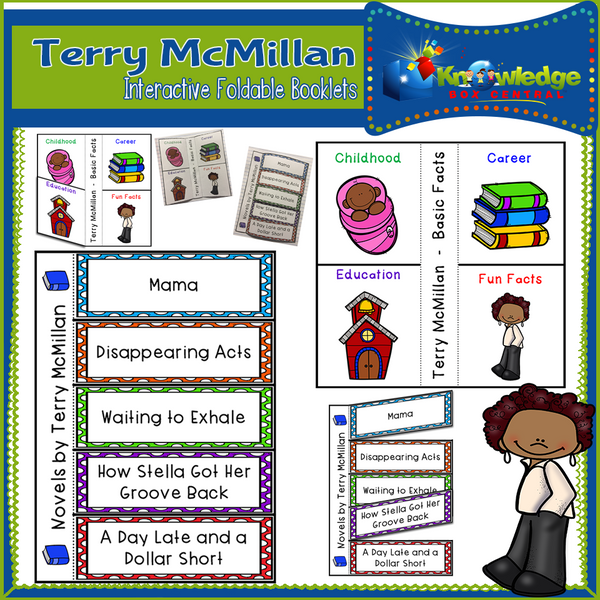 Terry McMillan Interactive Foldable Booklets