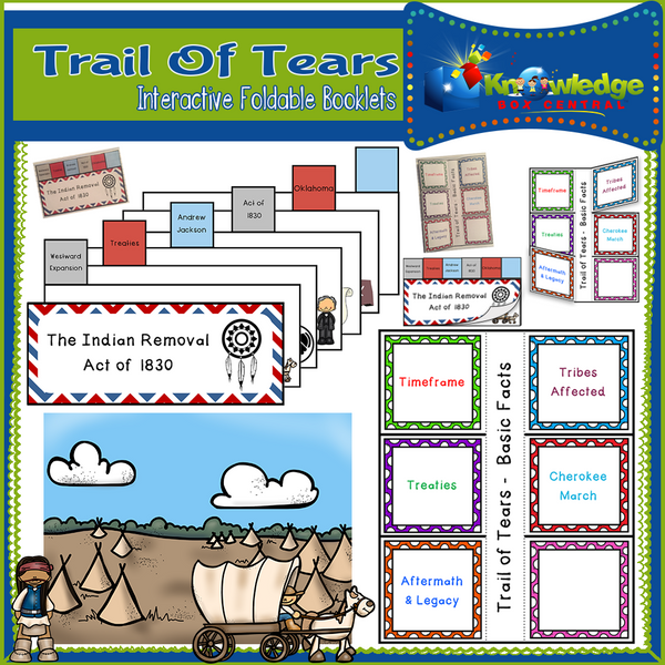 Trail of Tears Interactive Foldable Booklets