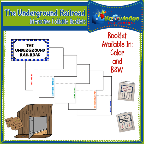 The Underground Railroad Interactive Foldable Booklets
