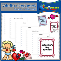 Valentine's Day Symbols Interactive Foldable Booklets