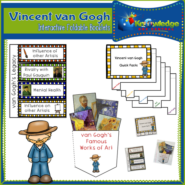 Vincent van Gogh Interactive Foldable Booklets