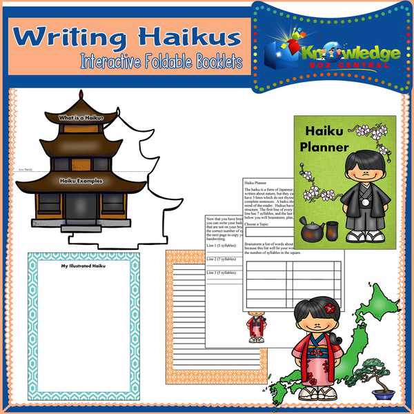 Writing Haikus Interactive Foldable Booklets