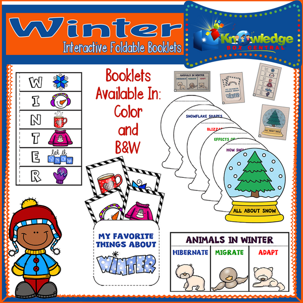 Winter Interactive Foldable Booklets