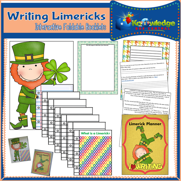 Writing Limericks Interactive Foldable Booklets
