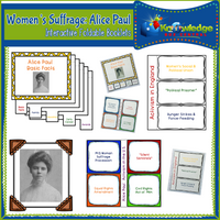 Women's Suffrage: Alice Paul Interactive Foldable Booklets