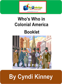 Who's Who in Colonial America Interactive Foldable Booklets
