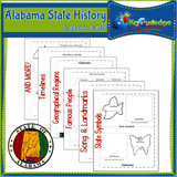 Alabama State History Lapbook Journal