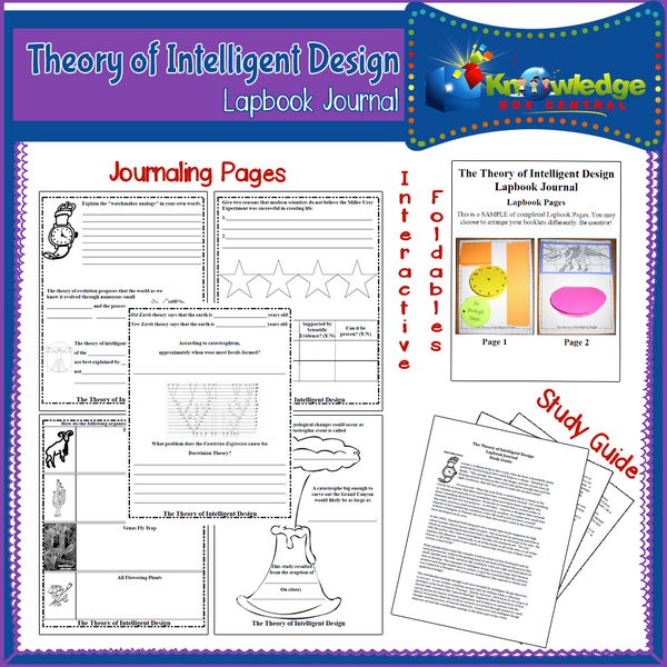 Theory of Intelligent Design Lapbook Journal
