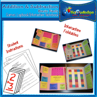 Addition & Subtraction Basic Facts Games Lapbook / Interactive Notebook
