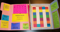 COMPLETED PHOTO Addition & Subtraction Basic Facts Games Lapbook / Interactive Notebook