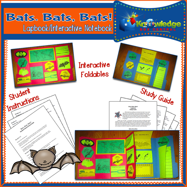 Bats, Bats, Bats! Lapbook / Interactive Notebook