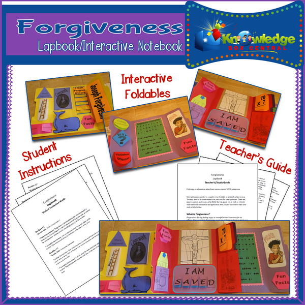 Forgiveness Lapbook
