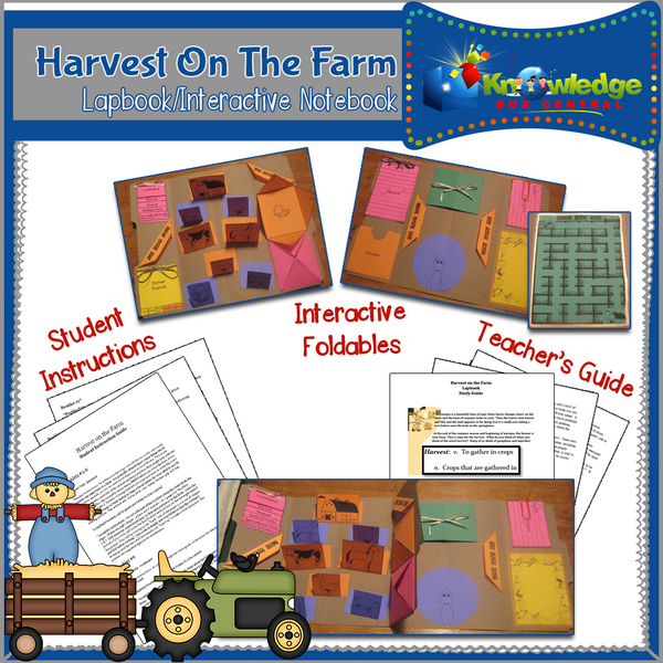 Harvest On The Farm Lapbook
