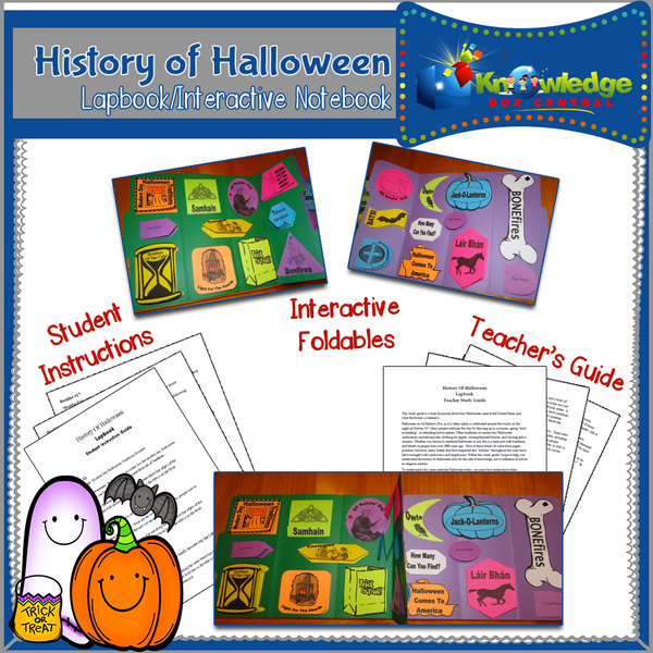History of Halloween Lapbook